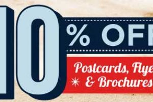10% off Postcards, Flyers and Brochures all July